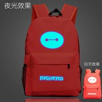 animal fighting style - 2016 Students Big Hero Bot Fight Printing School Bags Korean Style Luminous Backpack School Bag Men Women Canvas Backpack