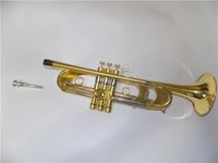 Wholesale High grade Bb Heavy Trumpet in Passivation finish EMS shipping method Brass Musical instruments
