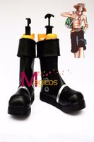 Costume Accessories Others Others Wholesale-Anime Portgas D Ace Cosplay Halloween Party Shoes Black Boots Custom-made