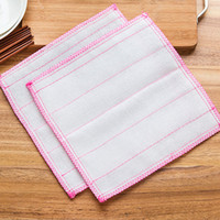 Wholesale Fiber cloth washing cloth kitchen clean dish towel nonstick oil absorbent cloth scouring pad Kitchen Gadgets