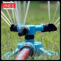 Blue automatic water garden - Automatic degree rotary spray head garden lawn sprinkler irrigation cooling Watering Garden Supplies