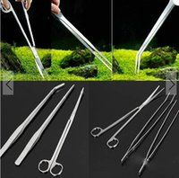 Wholesale in Straight Curve Tweezers Curved Scissors Tools Set for Aquarium Plant Maintenance