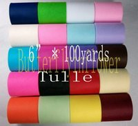 Wholesale Multicolor Mesh Matt Tulle Rolls inch yard per roll colors for choice DIY Tutu Dress Fabric rolls