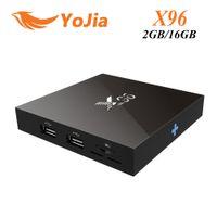 achat en gros de originale complète-10pcs [Original] X96 Android TV Amlogic S905X Quad Core Android 6,0 Marshmallow RAM 2 Go 2G ROM 16 Go WIFI Wifi HDMI