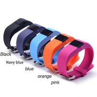 Wholesale 2016 NEW TW64S Waterproof Wristband Heart Rate Monitor Pulse tracker Smartband OLED Waterproof Bracelet with Pedometer mixed colors
