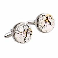Wholesale Men Shirt Wedding Watch Cufflinks Vintage Unique Watch Movement design Cuff Links For Men Gifts