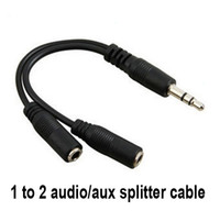 Wholesale Audio Conversion Cable mm Male To Female Headphone Jack Splitter Audio Adapter Cable for iPod iPhone iPad