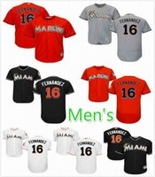 Wholesale New Miami Marlins Jose Fernandez Baseball Jersey Replica sewing Name and Logos M XXXL Welcome Mix Orders