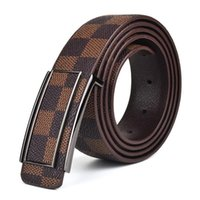 Wholesale 2016 Hot Fashion PU Cowskin Leather Designer Belts For Men Strap With Metal Buckle Jeans Belt Luxury High Quality Size cm