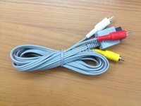 100pcs / lot Audio Video AV Cable Nouveau Adaptateur Composite RCA A / V pour Nintendo Wii Wii U # DTT01