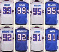 Wholesale 2016 New Men s Marcell Dareus Kyle Williams Manny Lawson Washington White Blue Top Quality jerseys Drop Shipping
