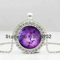 american universe - New Purple Galaxy Necklace Purple Nebula Crystal Pendant Universe Jewelry Ball Chain Necklaces Silver