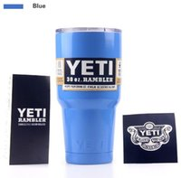 Wholesale 304 Stainless Steel oz YETI vacum Yeti Cooler cup Rambler Tumbler Cup Vehicle Beer Mug Double Wall Bilayer Vacuum Insulated
