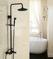 bath light bronze - Retro Oil Rubbed Bronze Bath Dual Lever Shower Faucet quot Shower Head