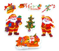 Wholesale Removable Wall Stickers Santa Claus And Christmas Tree Cartoon Decoration Sticker Decorative Stickers Kid s Room Accessories
