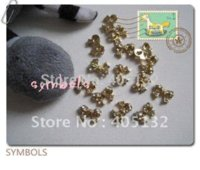 Wholesale MD D bag Gold Metal Rhinetone Bowknot Nail Decoration Lovely Outlooking Nail Art Decorations nail art decoration