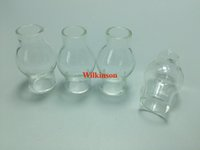 Wholesale Pyrex Glass Bulb For Wax Atomizer Glass Globe Wax Vaporizer Pen Glass Globe Replacement Bulb Only For Dual Wax Ceramic donut Quartz Coil