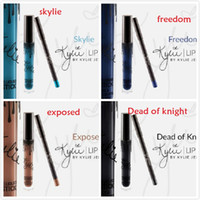 best colors - Best price Set New colors Kylie Lip Kit Jenner Lipstick Dead of Knight EXPOSED SKYLIE FREEDOM Eyekiner Lip Gloss Liquid Matte Lipline