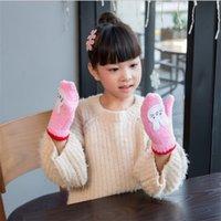 Mittens Unisex 4-9T Infant Children Mittens Outdoor Finger Cute Gloves Winter Warmer Child Kids Knitted Accessories Crochet Gifts for Christmas etst-a16-011