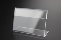 acrylic paper stand - Clear x85mm mm L Plastic Acrylic Sign Display Paper Promotion Card Table Price Label Holder Stand