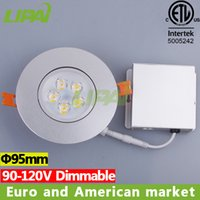 Wholesale cETL ETL Top seller Euro and American market silver W W dimmable led ceiling light with driver junction box
