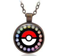 ash tin - New Poke Go Necklaces keychian Ash ketchum Team Valor Team Mystic Team Instinct Unisex Pendant Chain Bib Staement Necklace best gift