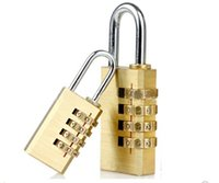 Wholesale 4 Digits Password Lock Combination Code Number Padlock for Luggage Backpack Handbag Suitcase Drawer Mini Copper