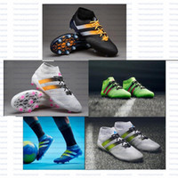 ag leather - 2016 Free Samba Primeknit FG AG Men soccer boots Cleats Shoes Football Shoes soccer cleats first knitted football boots