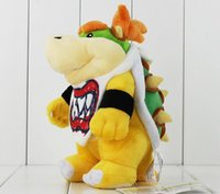 baby bowser plush - 2016 New Arrival Super Mario Bowser Koopa JR Stuffed Plush Doll Soft Baby Toy cm Christmas Gift For Children