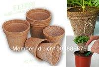 Wholesale 25 cm cm Garden Supplies biodegradable flower seedling raising pot vegetable Nursery tray pot cup