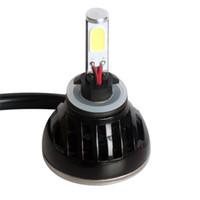 Wholesale Car light LED Cob Super bright H4 H13 Aluminum V V W LM Car LED Headlight Fog Drl lamp
