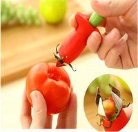 Wholesale Kitchenware Tomato Stalks Fruit Strawberry Knife Stem Leaves Remover Fruit Slicer Strawberry Huller Fruit Corer Kitchen Tool