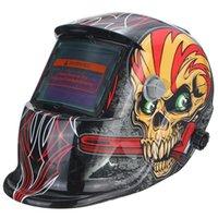 arc view - New Welding Helmet x4 cm Viewing Area Solar Welding Helmet Mask Auto Darkening For Arc Tig Mig Grinding Skull Pattern