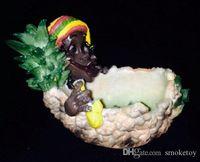 Wholesale Arabia smoking style resin banana man pineapple man Coconut man black smoker Reggae Jamaica ashtray model art resin Buy home