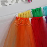 Wholesale 100cm x cm Gray Tulle Tutu Table Skirt Tulle Table Skirting Tableware Wedding Birthday Baby Shower Chrismas Party Table Decoration