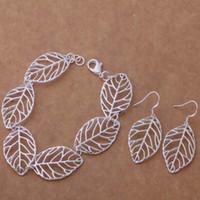 Wholesale AS296 Hot sterling silver Jewelry Sets Earring Bracelet alsajcza asfajjma