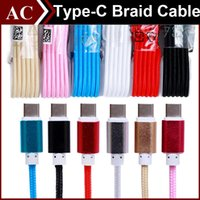 Wholesale 1 M FT Type C Braided Fabric Metal Charging Cable Micro USB Type C Male Data Sync Charger Line For LG G5 Nokia N1 Apple New MacBook