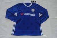 Wholesale Quality assurance Chelsea FC long sleeve men thailand soccer Jerseys uniforms shirt Costa Hazard Kante Fabregas Pedro Oscar