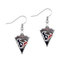 Wholesale 2016 Fashion Alloy Texans Drip Earring Sport Jewelry Dangle Drop Earrings Accessories For Fans Beest Gift