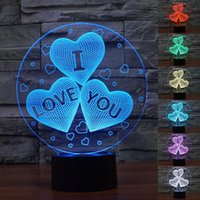acrylic christmas lights - New Wedding Lamps For Valentine Lighting Lover Gifts D HEART I LOVE YOU Color Changing USB charge LED Nnight Light Acrylic Desk Lamp