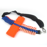 Wholesale 1x Bandolier Toy Gun Soft Bullets Belt Shoulder Strap Clip Charger Darts Ammo Storage For Nerf N strike Blasters Cartridge Holder