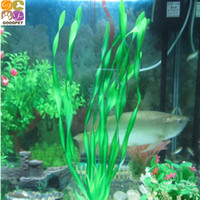Wholesale 1Pcs High Quality Green Artificial Water Grass Flower For Aquatic Animals Plant Ornament Accessories
