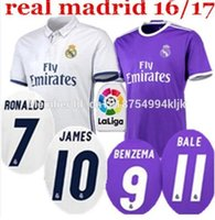 Wholesale 2016 high Quality Real madrid jerseys home away RD Jerseys RONALDO JAMES BALE Jerseys