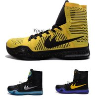 Cheap 2016 New KB 10 Elite Flyknits High Top Mens Basketball Shoes Popular Sport Sneakers Cheap KB X Trainers Shoes For Sale