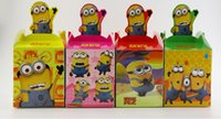 Wholesale 24Pcs Despicable Me Minion Candy Boxes For Birthday Party Baby Shower Days Decoration Favors Box Containers For Sugar