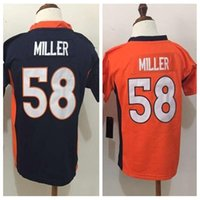 Wholesale 2016 New Little Baby Von Miller Blue orange Preschool Toddler Kids Years Old Infant Foottball Jersey