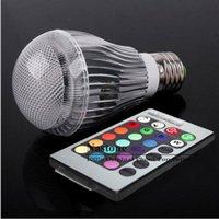 Bulbo de 9W LED RGB 16 que cambia 9W E27 proyectores LED RGB llevó bulbos lámpara de Downlight + 24 remoto clave 85-265V de Control