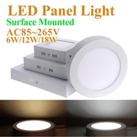 Wholesale leds w lm ac85 v one square led surface mounted ceiling light smd square led panel light