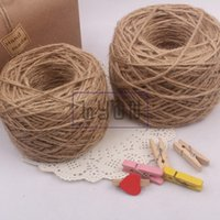 Wholesale 1 mm Jute Rope m Retro Chic Natural Twist String Handmade DIY Hemp Cords