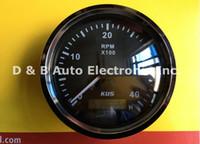 Wholesale 1pc Brand New KUS Black Tachometers Revolution Meters RPM V For Boat Auto Black Color